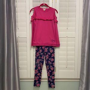 Juicy Couture Kids 2pc cold shoulder/leggings set